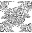 monochrome black and white seamless pattern vector image vector image