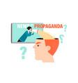 news or propaganda conceptual image vector image