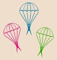 Parachute jumper icon vector image vector image
