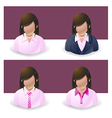 People Icons Women vector image vector image