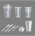 plastic wear isolated set on transparent back vector image vector image