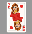 Queen of Hearts playing card vector image vector image