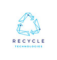 recycle tech geometric logo icon vector image vector image