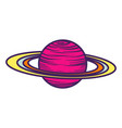 saturn planet icon hand drawn style vector image