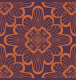 seamless geometric pattern with brown ornamental vector image