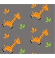 Seamless pattern with funny giraffes vector image vector image
