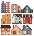 set of different culture houses vector image