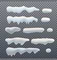 set of seasonal elements for design vector image vector image