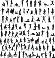 set womens silhouettes vector image vector image