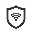 shield icon wifi sign protectoin sign flat vector image vector image