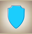 shield sign sky blue icon vector image vector image