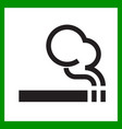 smoking area icon cigarette smokers zone smoking vector image vector image
