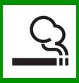 smoking area icon cigarette smokers zone vector image vector image