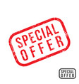 spesial offer - rubber stamp with grunge texture vector image vector image