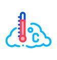 temperature cloud icon outline vector image