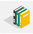 three books of encyclopedia isometric icon vector image vector image