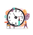time management concept for web banner vector image vector image