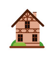 traditional old german house with timber framing vector image vector image