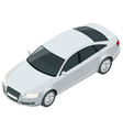 view isometric sedan vehicle template vector image