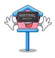 virtual reality wooden bird house on a pole vector image