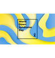world down syndrome day banner liquid waves vector image vector image