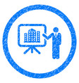 architecture presentation rounded grainy icon vector image