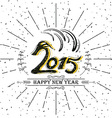 2015 Vintage New Year Typographical vector image