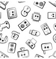 a set of cartoon icons on pc vector image