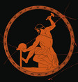 ancient greek man blacksmith vector image