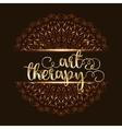 Art therapy mandala logo vector image vector image