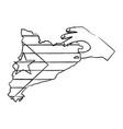 catalunya flag icon image vector image