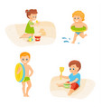 children on vacation vector image vector image
