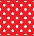classic polka dots seamless pattern vector image vector image