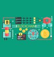 cryptocurrency bitcoin and blockchain network vector image vector image