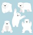 cute polar bear funny cartoon set