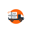 delivery logistics services icon move boxes vector image