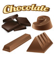 different designs of chocolate bars vector image vector image