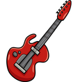 electric guitar cartoon clip art vector image vector image