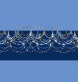 elegant minimal christmas garland pattern vector image vector image