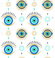 evil eyes seamless pattern contemporary modern vector image vector image