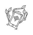 farming smart icon hand drawn icon set outline vector image