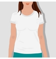 female t shirts realistically painted vector image