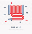 fire hose thin line icon vector image