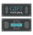 gift certificate or card in vintage style vector image vector image
