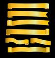 gold ribbon banner image vector image vector image