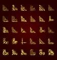 golden calligraphic corners in retro style vector image vector image