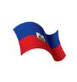 haiti flag vector image vector image