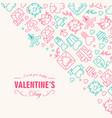 happy valentines day postcard vector image vector image