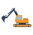 icon of construction excavator vector image vector image