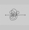 insane messy line vector image vector image